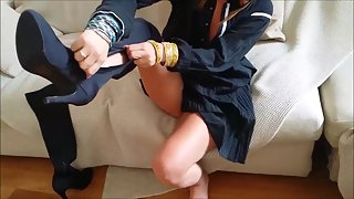Indian Housewife From London Changing Lingerie