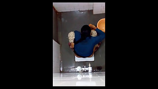 Juicy Indian Girl Changing Pad In Bathroom