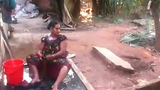 Desi South Indian Bhabhi Outdoor Shower