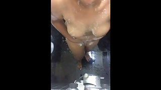 Indian Bhabhi In Shower Asking You Wanna Fuck