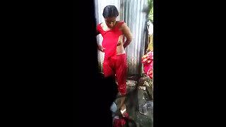 Desi Village Girl Dressing Up After Shower